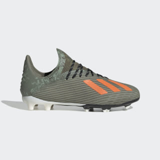 Scarpe da calcio X 19.1 Firm Ground Legacy Green / Solar Orange / Chalk White EF8301
