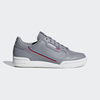 Continental 80 Shoes Grey Three / Hi-Res Aqua / Scarlet F99784