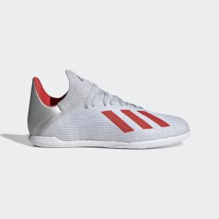 Chuteira X 19.3 - Futsal Silver Met. / Hi-Res Red / Ftwr White F35355