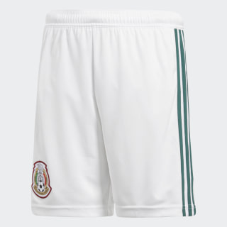 Shorts Oficial Selección de México Local Niño 2018 WHITE/COLLEGIATE GREEN BQ4656