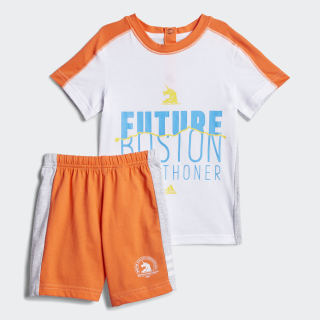 Boston Marathon® Set Light Grey Heather / True Orange EJ6269
