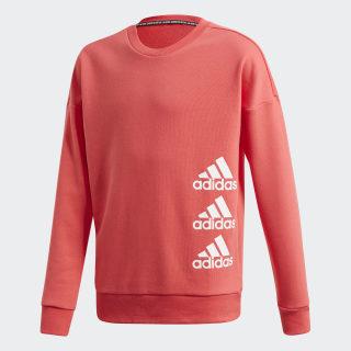 Sudadera Cuello Redondo Must Haves Badge of Sport Core Pink / White FL1799