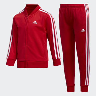 Tricot Jacket and Joggers Set Scarlet CM6772