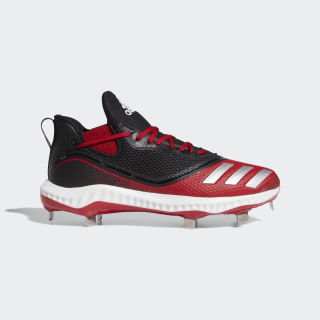 Icon V Bounce Cleats Core Black / Silver Metallic / Power Red G28254