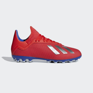 X 18.3 Artificial Grass Boots Active Red / Silver Met. / Bold Blue F36078