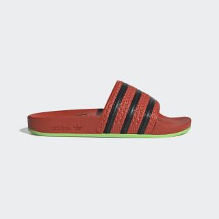 Adilette Slides Bold Orange / Core Black / Green FV2718