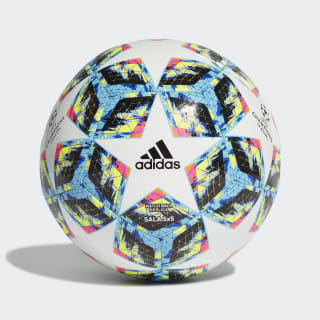 Bola Finale Ucl Futsal 5X5 Top:white/bright cyan/solar yellow/shock pink Bottom:COLLEGIATE ROYAL/BLACK/SOLAR ORANGE DY2548