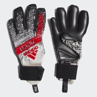 Predator Pro Goalkeeper Gloves Silver Met. / Black / Hi-Res Red DY2594
