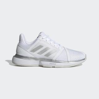 Кроссовки для тенниса CourtJam Bounce Wide ftwr white / matte silver / grey one f17 EE6162