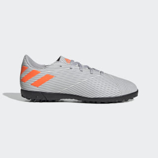 Calzado de Fútbol Nemeziz 19.4 Césped Artificial Grey Two / Solar Orange / Chalk White EF8306