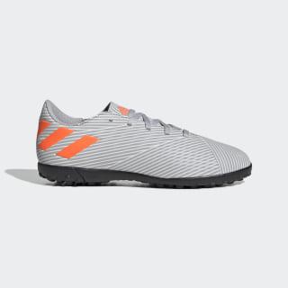 Zapatos de Fútbol Nemeziz 19.4 Césped Artificial Grey Two / Solar Orange / Chalk White EF8306