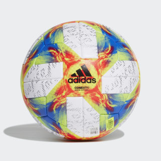 Conext 19 Women's World Cup Official Game Ball White / Solar Yellow / Black / Football Blue DU0190