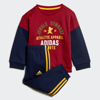 Graphic Terry Jogger Set Active Maroon / Collegiate Navy / Active Gold ED1170