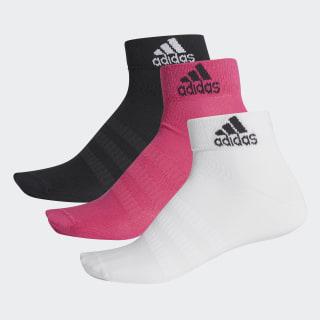 Meias Ankle 3 Pares Real Magenta / Black / White DZ9437