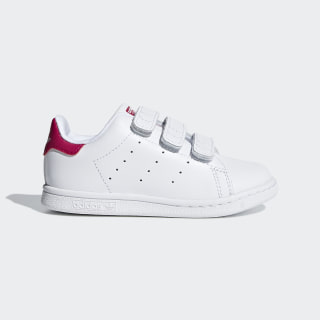 Sapatos Stan Smith Footwear White / Footwear White / Bold Pink BZ0523