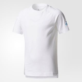 Playera Cotton WHITE/MYSTERY PETROL F17 CE9824