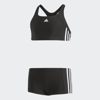 adidas essence core 3 stripes swim bikini youth Black/White BP9479