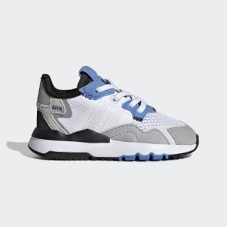 Zapatilla Nite Jogger Cloud White / Cloud White / Real Blue EE6443