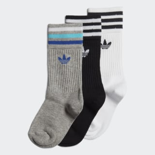 Crew Socks 3 Pairs Medium Grey Heather / Collegiate Royal ED5905