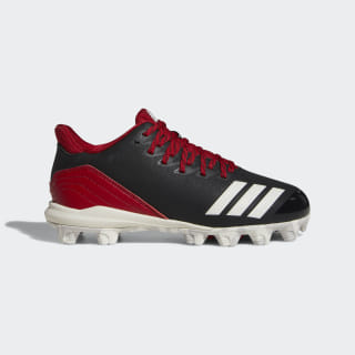 Icon 4 MD Cleats Core Black / Running White / Power Red CG5263