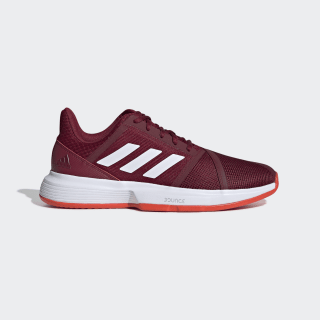 Sapatos CourtJam Bounce – Terra batida Collegiate Burgundy / Cloud White / Active Orange G26832
