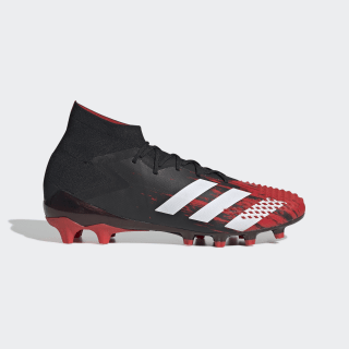 Predator Mutator 20.1 Artificial Grass Boots Core Black / Cloud White / Active Red EF1632