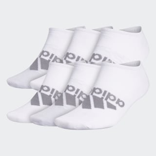 Superlite Badge of Sport No-Show Socks 6 Pairs White CM5762