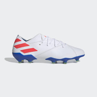 Nemeziz Messi 19.1 Firm Ground Voetbalschoenen Cloud White / Solar Red / Football Blue F34402