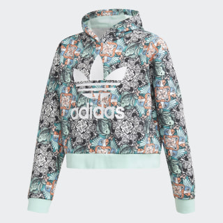 HOODED SWEAT J ZOO HOODIE MULTICOLOR/CLEAR MINT/WHITE D98906