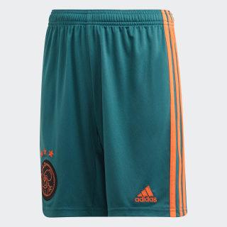Pantalón corto segunda equipación Ajax Tech Green / Semi Solar Orange EI7375