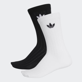Mid Ribbed Crew Socks 2 Pairs Black / White DV1425