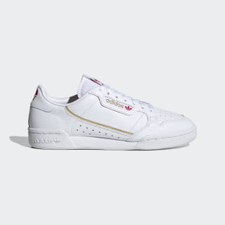 Continental 80 Shoes Cloud White / Scarlet / Gold Metallic FW6391