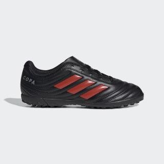Zapatos de Fútbol Copa 19.4 Césped Artificial Core Black / Hi-Res Red / Silver Metallic F35458