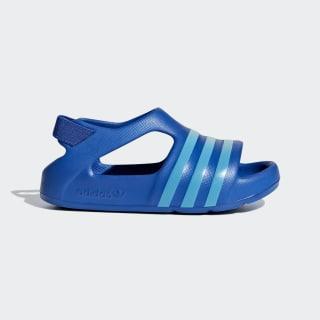 Sandale Adilette Play Blue / Shock Cyan / Clear Mint CG6599