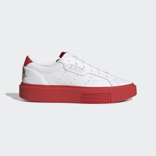 adidas Sleek Super Schuh Cloud White / Red / Core Black EE4719