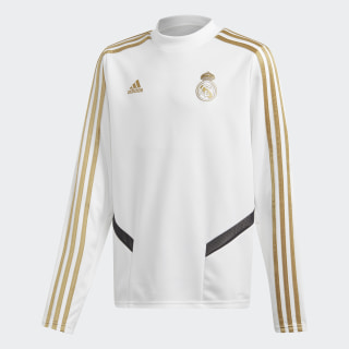 Sudadera entrenamiento Real Madrid White / Dark Football Gold DX7822