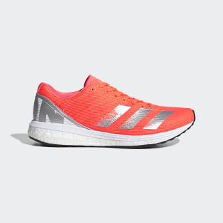 adizero Boston 8 Schoenen Signal Coral / Silver Metallic / Cloud White EG1169