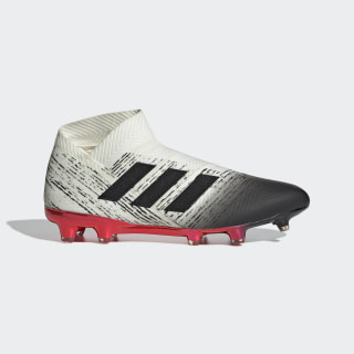 Chuteira Nemeziz 18+ Campo Off White / Core Black / Active Red BB9419