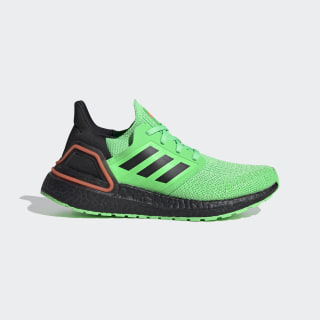 Ultraboost 20 Shoes Shock Lime / Core Black / Solar Orange EG4859