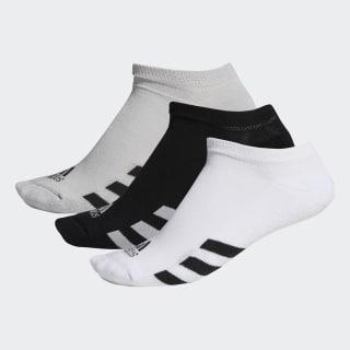 No-Show Socks 3 Pairs Black / Grey / White DM6092