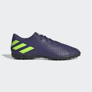 Zapatilla de fútbol Nemeziz Messi 19.4 moqueta Tech Indigo / Signal Green / Glory Purple EF1805