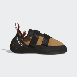 Five Ten Anasazi Hook and Loop Climbing Shoes Raw Desert / Core Black / Red BC0871