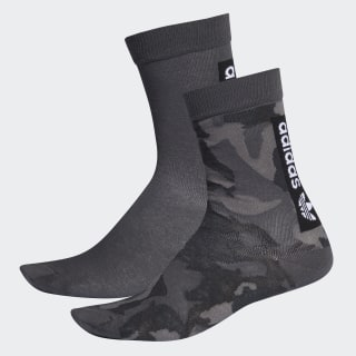 Camo Crew Socks 2 Pairs Grey Four / Grey / Carbon / Grey EH4027