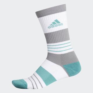 Linear Colorblock Crew Socks True Green DT2328