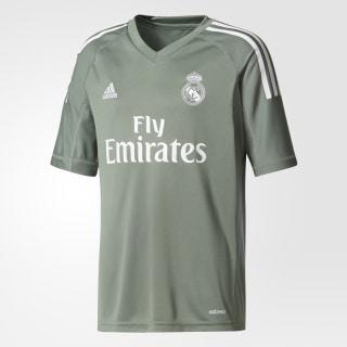 Camiseta portero primera equipación Real Madrid Trace Green / White B31102