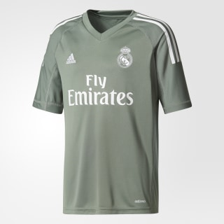 Real Madrid Home Goalkeeper Jersey Trace Green / White B31102