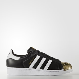 Tenis Superstar 80s Punta De Metal Mujer CORE BLACK/FTWR WHITE/GOLD MET. BB5115
