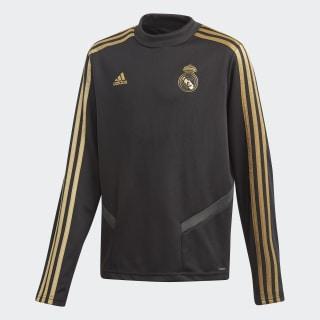 Real Madrid Trainingsoberteil Black / Dark Football Gold DX7821