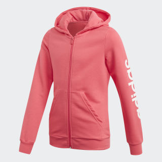 Hoodie Linear Real Pink / White EH6126