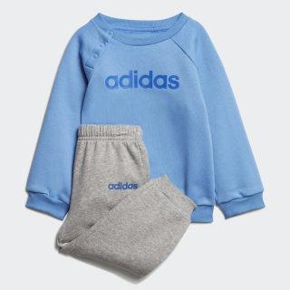 Linear Fleece Jogginganzug Real Blue / Medium Grey Heather / Blue EI7963